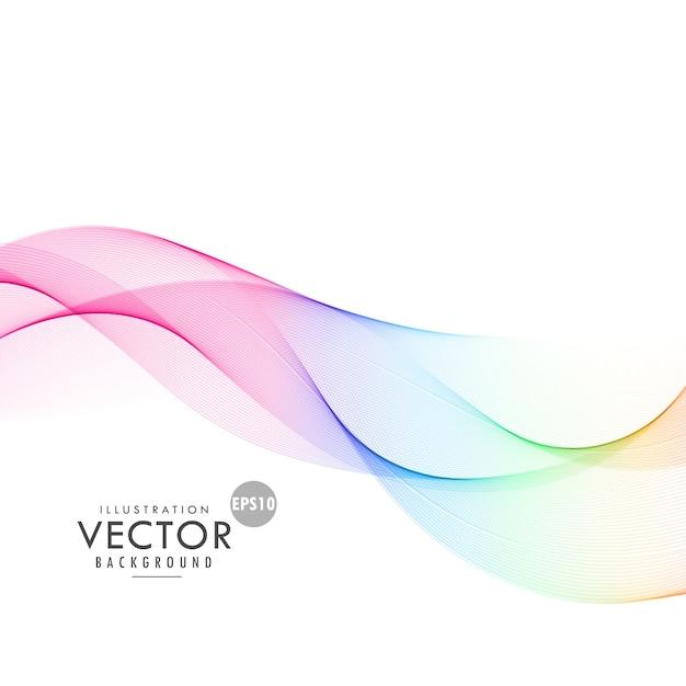 Fondo con formas dinámicas, a todo color Vector Gratis