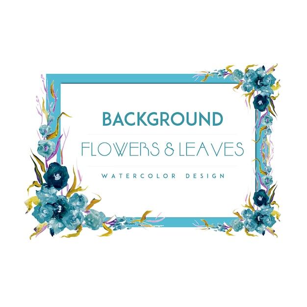 Fondo con marco de flores azules | Descargar Vectores gratis