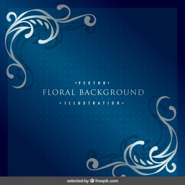 Fondo Con Ornamentos Florales De Plata Descargar