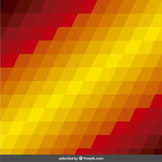 Fondo con triángulos en colores cálidos | Descargar Vectores gratis