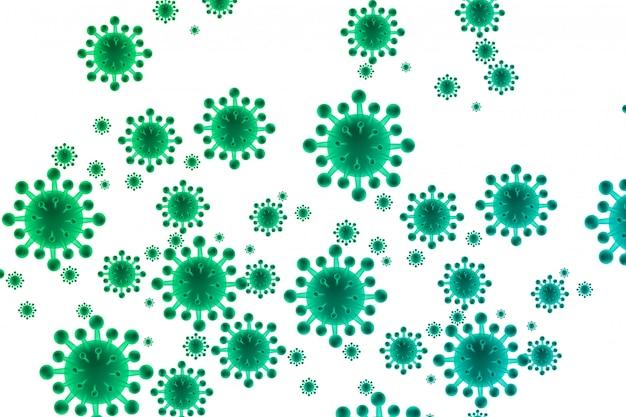 Fondo de concepto biológico de bacterias vector gratuito