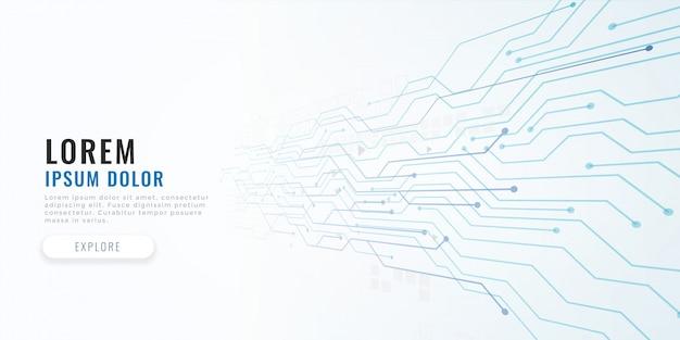 Fondo de concepto de diagrama de circuito de tecnología vector gratuito