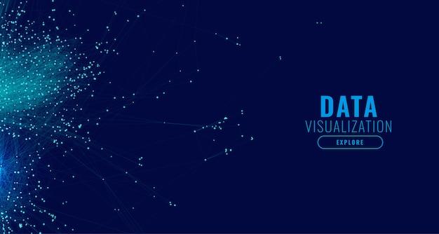 Fondo de concepto de diagrama de malla de visualización de datos grandes vector gratuito