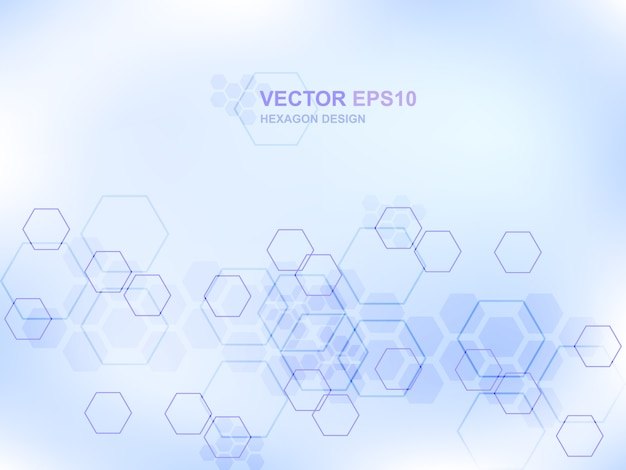 Fondo de concepto médico de tecnología hexágono Vector Premium
