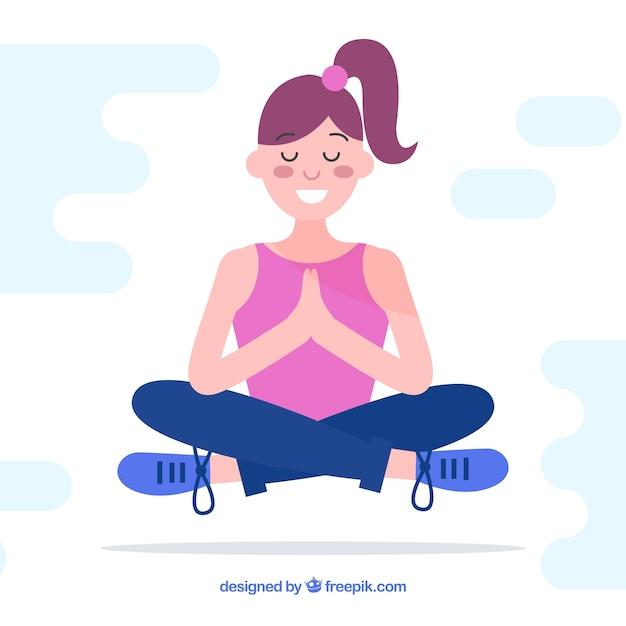 Fondo de concepto de meditación vector gratuito