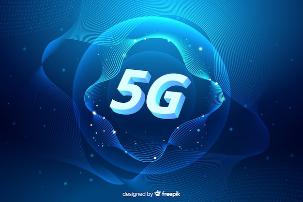 Fondo de concepto de red celular 5g vector gratuito