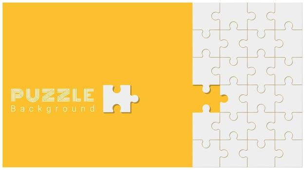 Fondo conceptual abstracto con rompecabezas incompleto Vector Premium