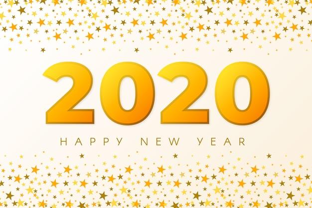 Fondo de confeti año nuevo 2020 vector gratuito