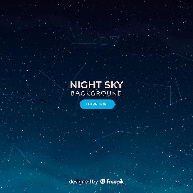 Fondo constelaciones cielo nocturno oscuro vector gratuito
