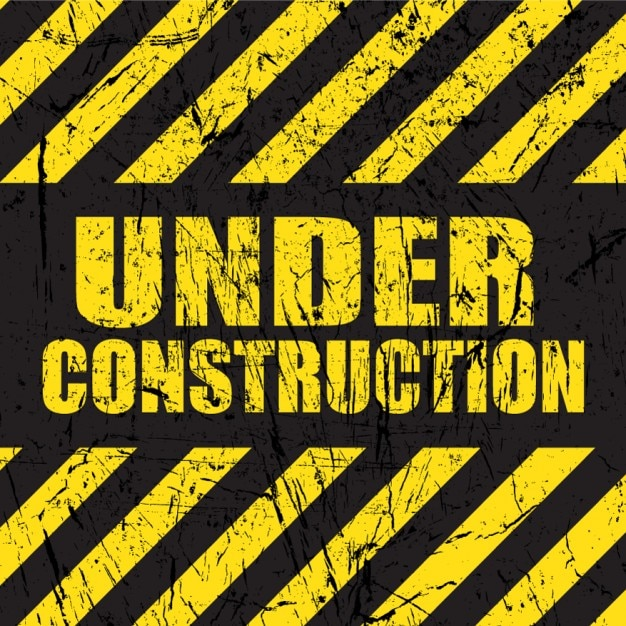 Under Construction Tape Background Fondo de construcci...