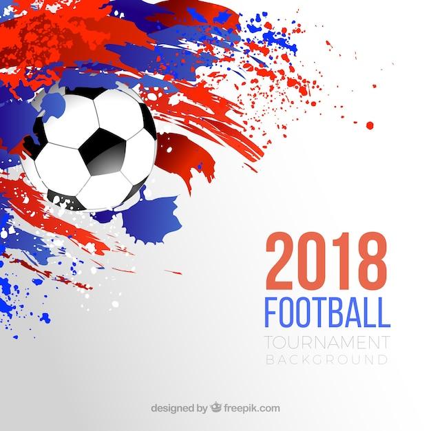 Fondo De Copa Mundial De Fútbol Con Balón Y Manchas