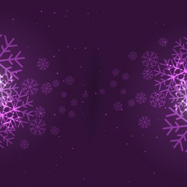 Fondo copos de nieve de color morado   Descargar Vectores gratis