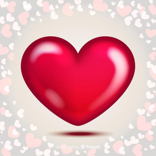 Fondo de corazón con brillo | Vector Gratis
