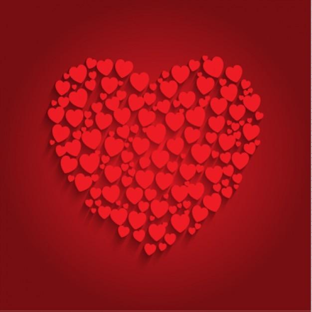 Fondo De Corazón Hecho De Pequeños Corazones Descargar Vectores Gratis