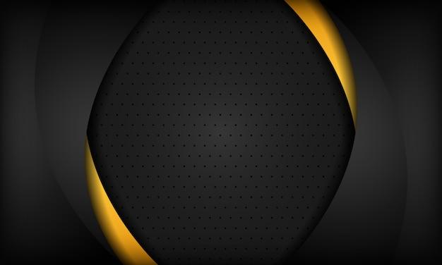 Fondo corporativo negro y naranja. textura con patrón de metal oscuro. Vector Premium