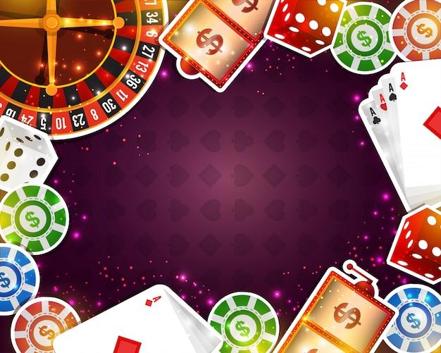 Fondo Creativo Del Casino Con Los Varios Elementos De
