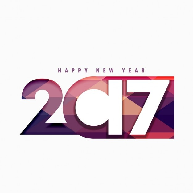 Fondo creativo geométrico de 2017 Vector Gratis