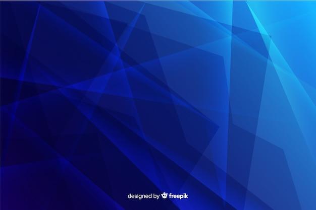 Fondo de cristal azul degradado roto abstracto vector gratuito