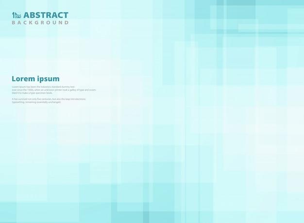 Fondo cuadrado azul del modelo del gradiente abstracto. Vector Premium
