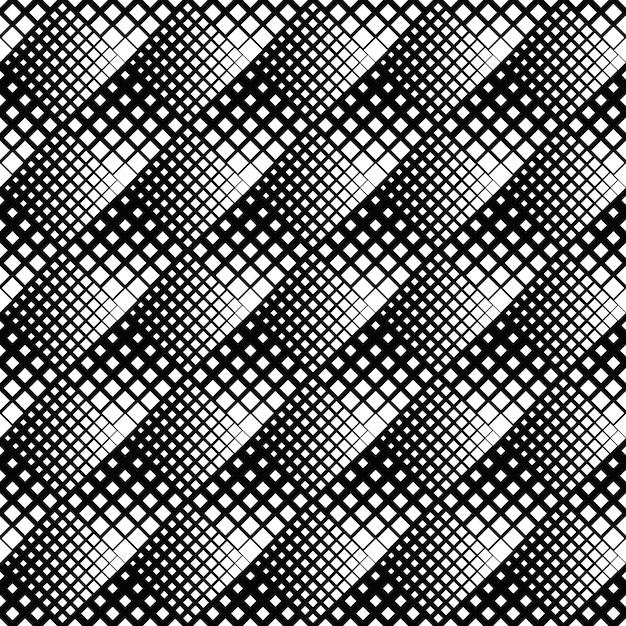 Fondo cuadrado diagonal abstracto blanco y negro Vector Premium