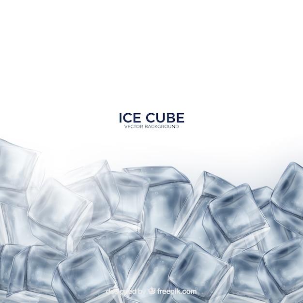 Fondo de cubitos de hielo con estilo realista vector gratuito