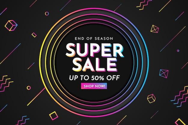 Fondo de cubos y sobres para ofertas de super venta vector gratuito
