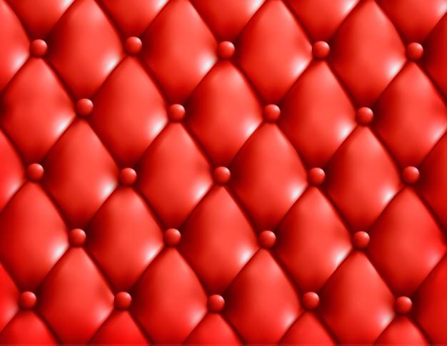 Fondo de cuero con botones rojos. Vector Premium
