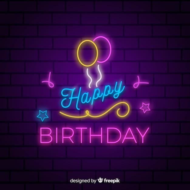 Fondo de cumpleaños en diseño plano vector gratuito