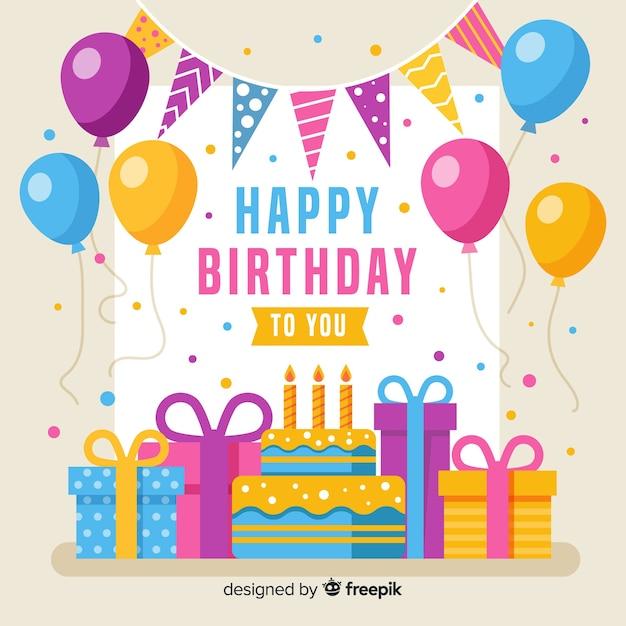 Fondo de cumpleaños vector gratuito