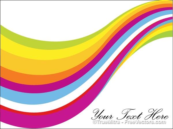 Fondo Curvo Rayas De Colores