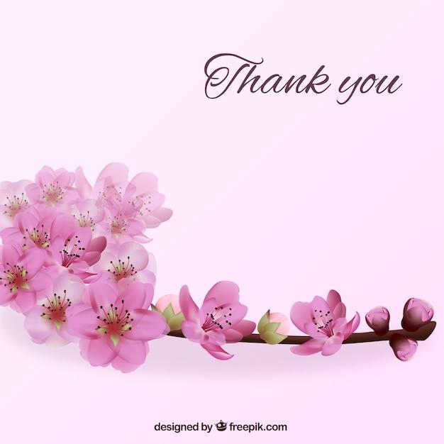 Fondo de agradecimiento con flores | Descargar Vectores gratis