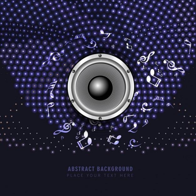 Fondo de altavoz de m sica brillante descargar vectores for Altavoz de musica