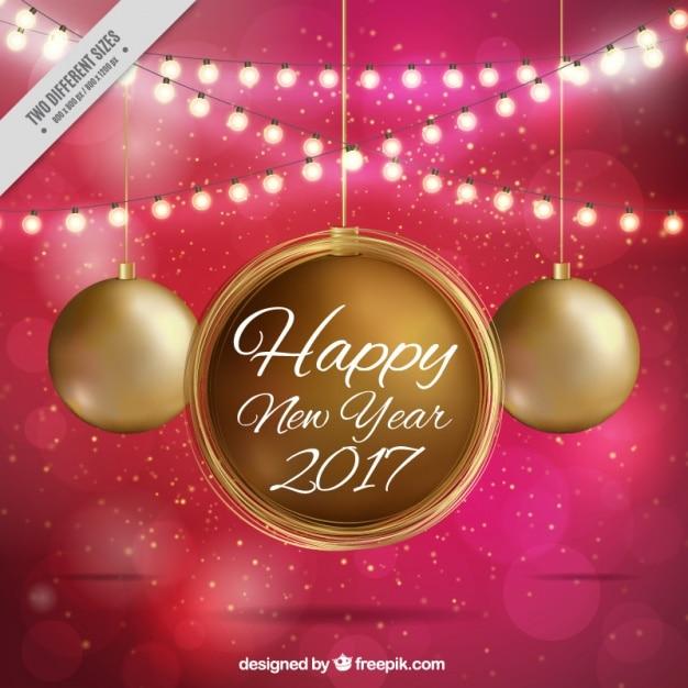 Cadena bolas fotos y vectores gratis - Bolas de navidad doradas ...