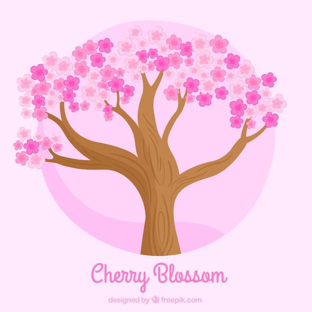 Fondo de rbol con flores de color rosa descargar - Arbol de rosas ...