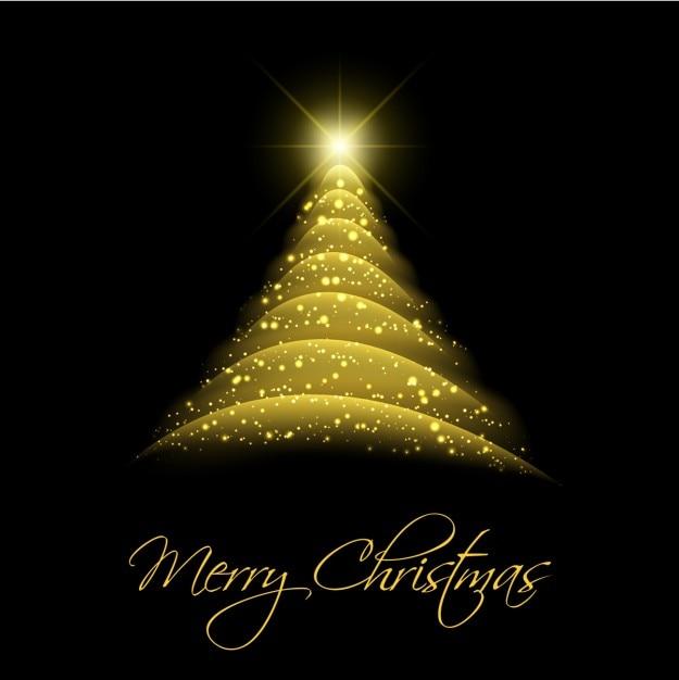 Fondo de rbol de navidad abstracto dorado descargar - Arboles de navidad dorados ...