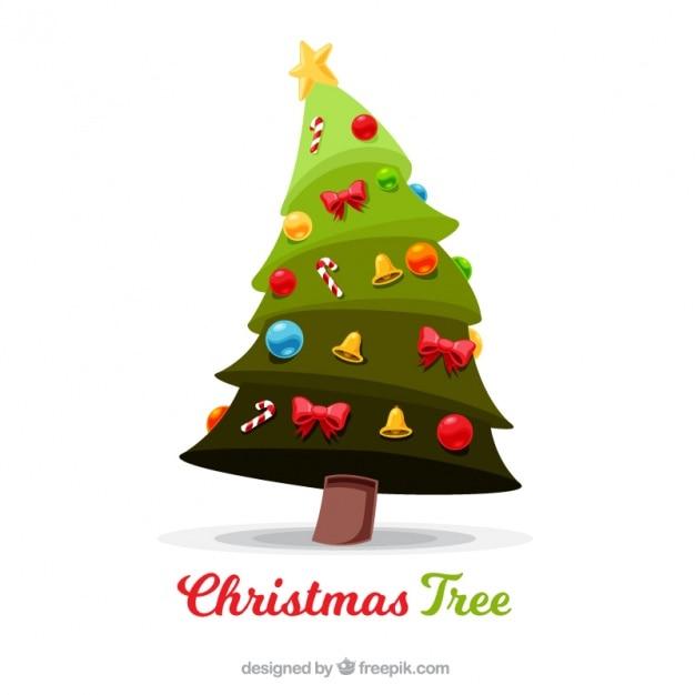 Fondo de rbol de navidad con bonitos adornos descargar - Arboles de navidad bonitos ...