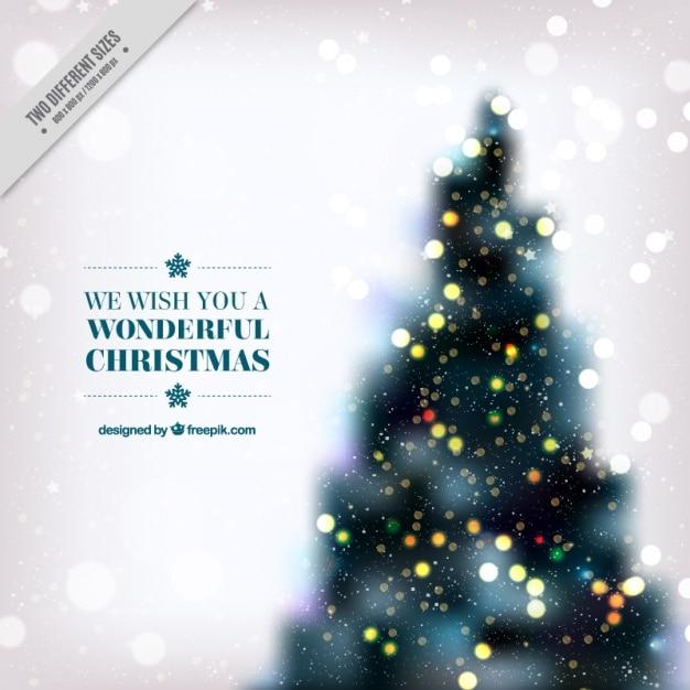 Fondo de rbol de navidad con luces desenfocadas - Luces para arbol de navidad ...