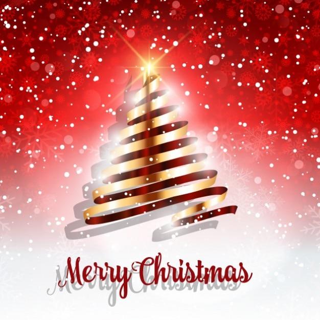 Fondo de rbol de navidad de cinta dorada descargar - Cinta arbol navidad ...