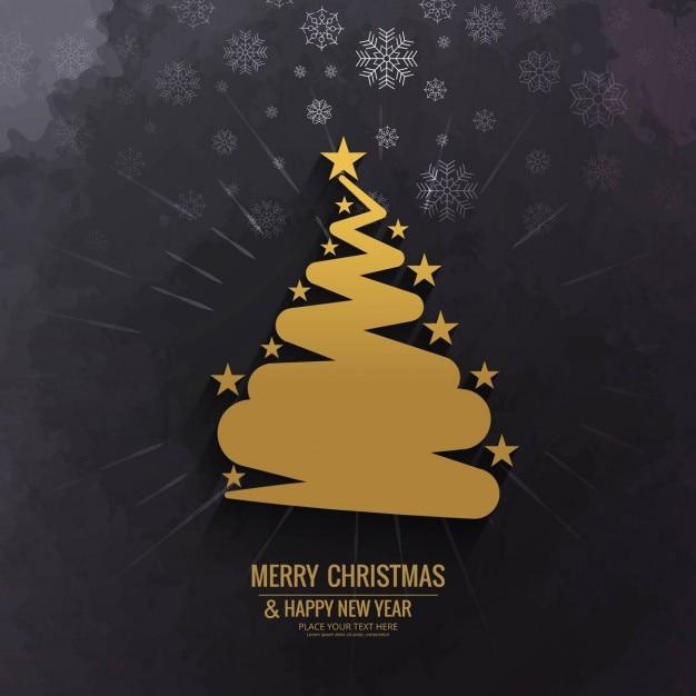 Fondo de rbol de navidad dorado con estrellas descargar for Arbol de navidad dorado