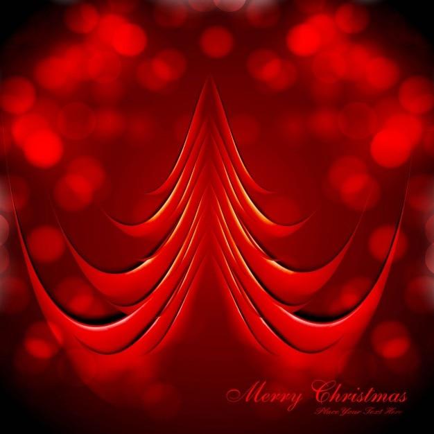 fondo de rbol de navidad rojo vector gratis