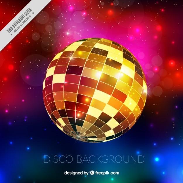 Fondo de bola de discoteca dorada descargar vectores premium - Bola de discoteca de colores ...