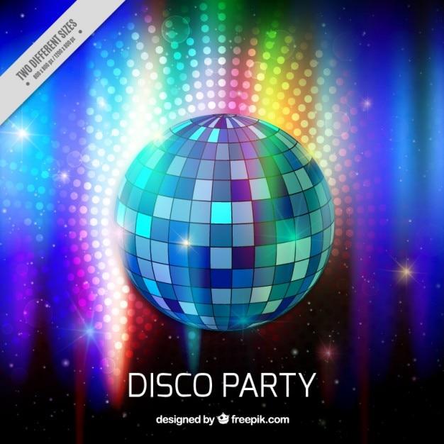 Fondo de bola de luces de discoteca descargar vectores - Bola de discoteca de colores ...