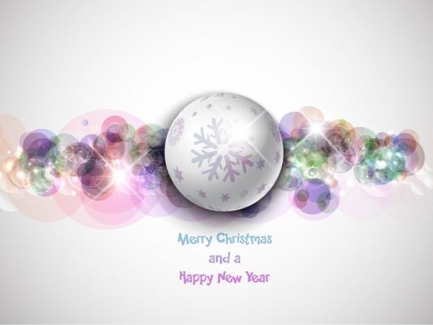 Fondo de bola de navidad plateada con copo de nieve - Bola nieve navidad ...