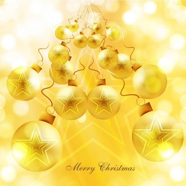 Fondo de bolas de navidad doradas brillante descargar - Bolas de navidad doradas ...