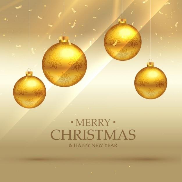 Fondo de bolas doradas brillantes de navidad descargar - Bolas de navidad doradas ...