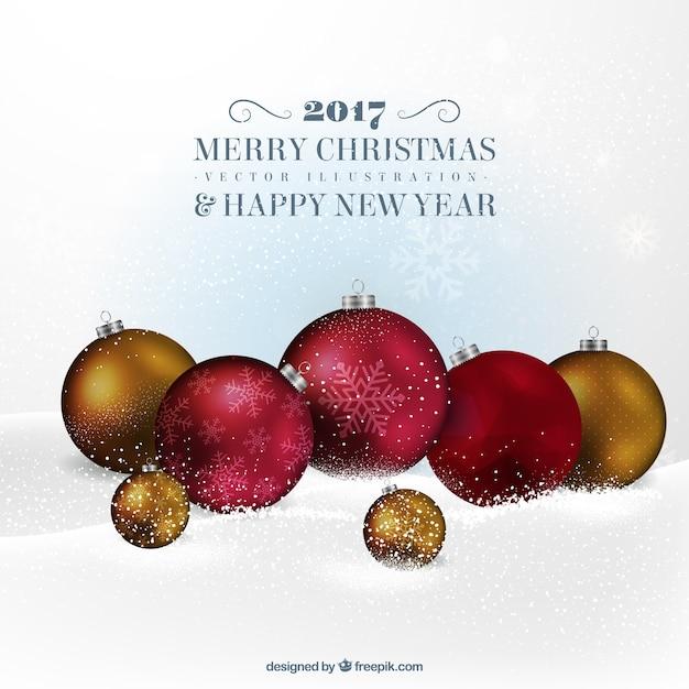 Fondo de bolas rojas y doradas de navidad descargar - Bolas de navidad doradas ...