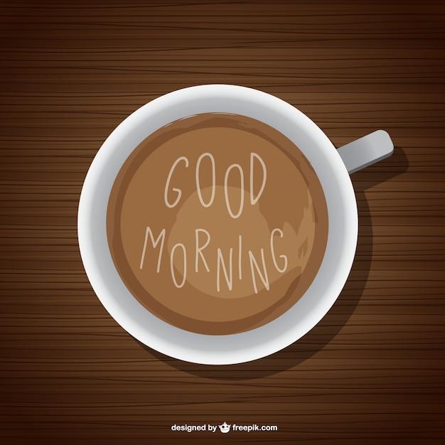 Fondo de buenos días con café Vector Gratis