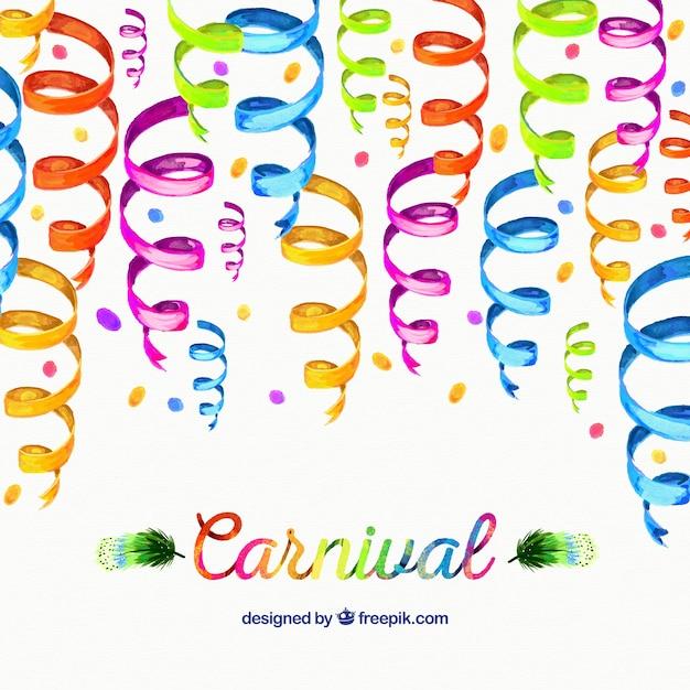 Fondo De Carnaval Con Serpentina De Acuarela Descargar