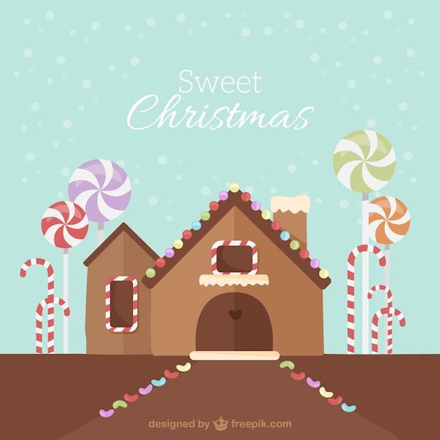 Fondo de casa de jengibre dulce de navidad descargar for Casa jengibre