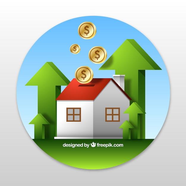 Fondo de casa y dinero | Descargar Vectores gratis